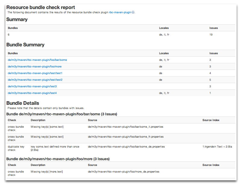 Example report